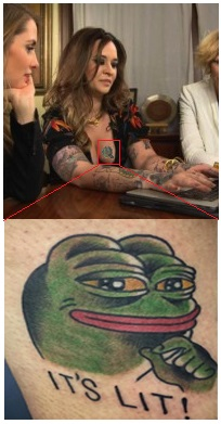 Annaliese Nielsens Pepe Tattoo Know Your Meme
