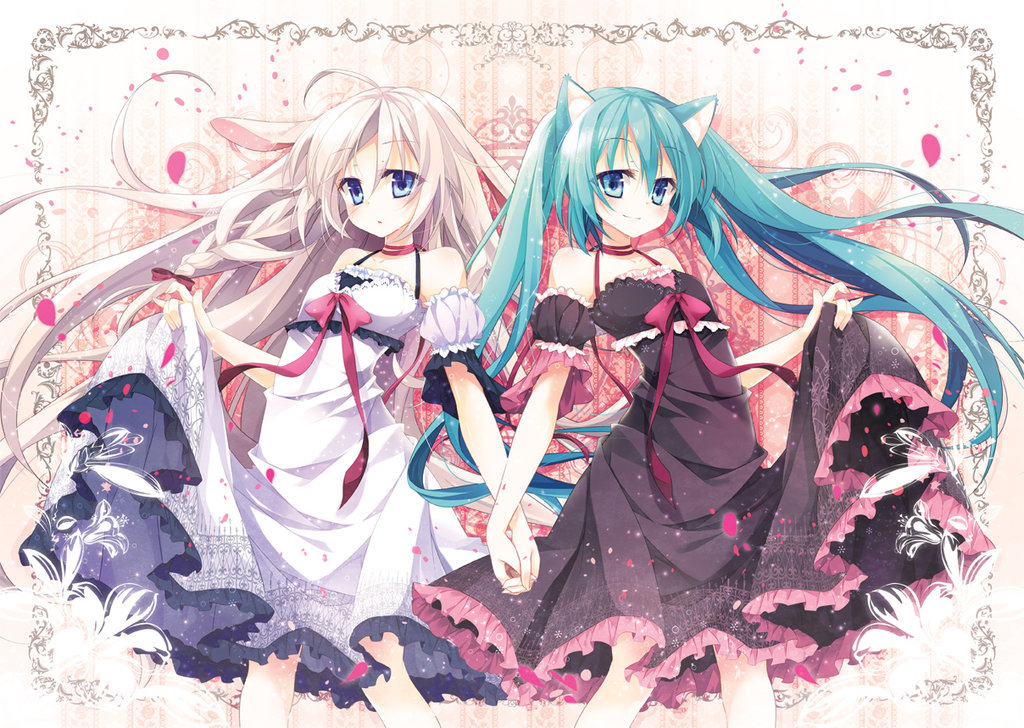 miku and ia d so cute together hatsune miku vocaloid know