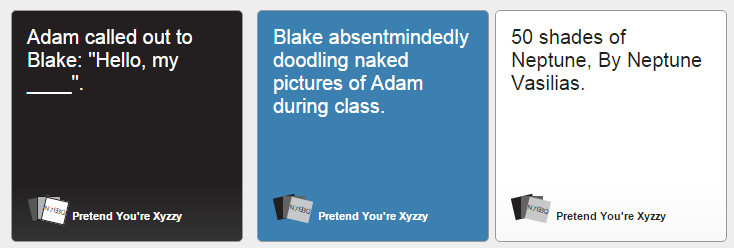 Image of: Deck Adam Called Out To Blake Know Your Meme Rwby Against Humanity part 50 Shades Of Neptune Rwby Know