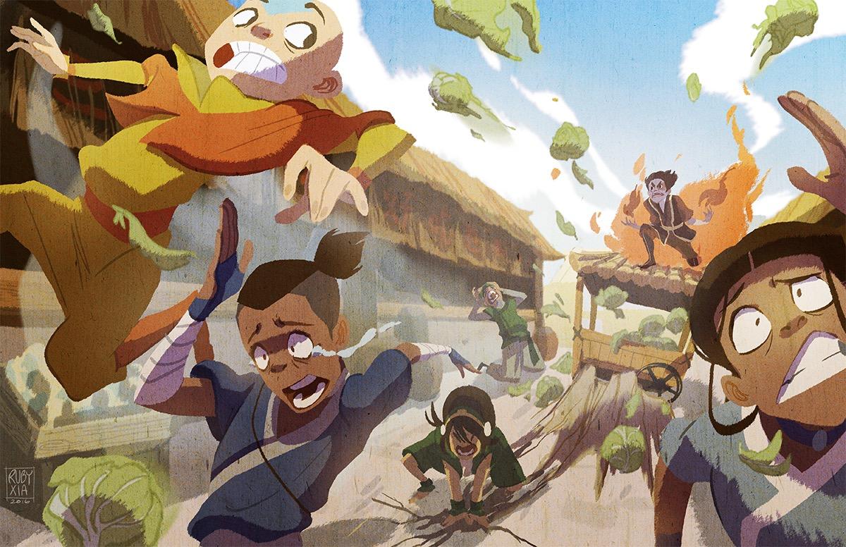 Zuko Sokka Aang Katara Iroh Toph Beifong Mammal Cartoon Vertebrate Art Anime Illustration