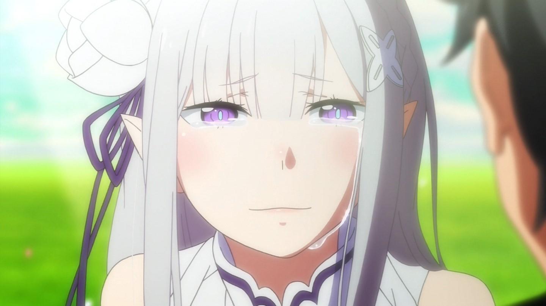 泣いているエミリア