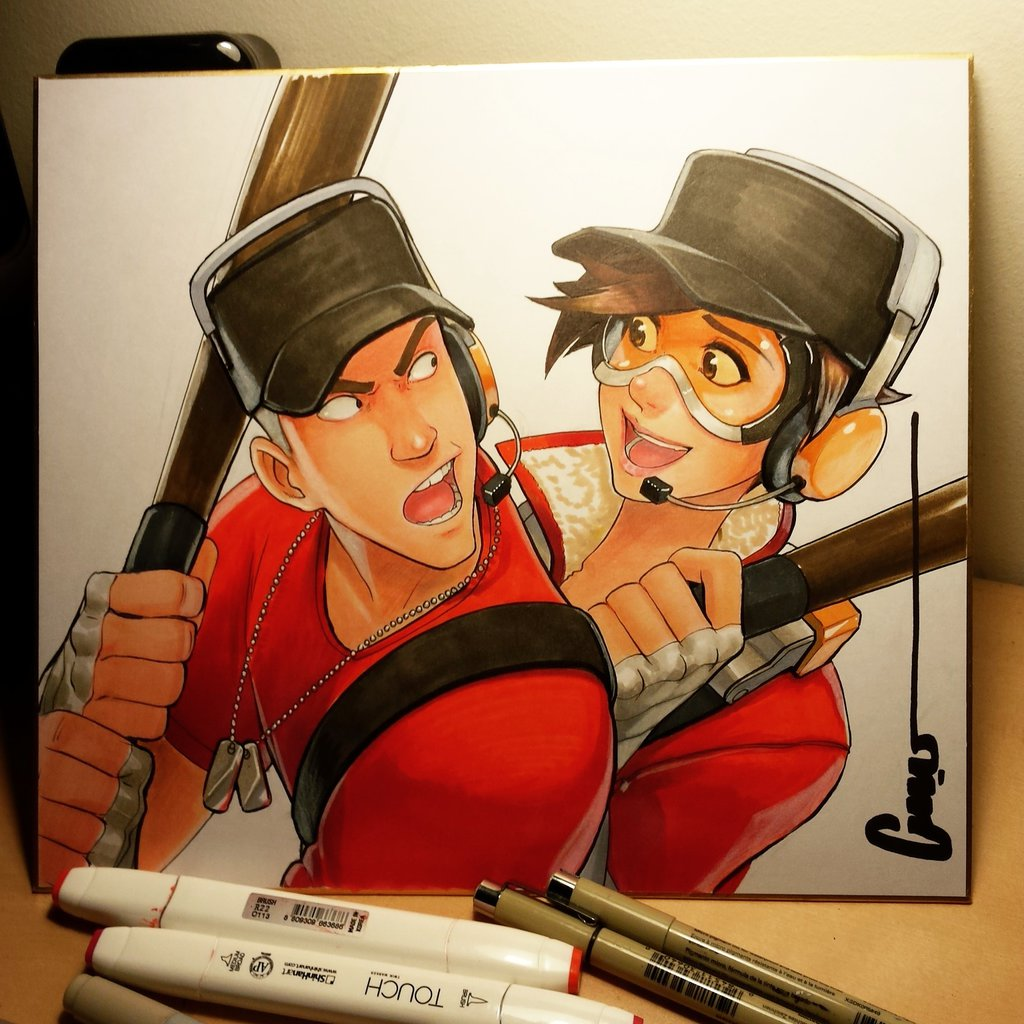 team fortress 2 scout drawing