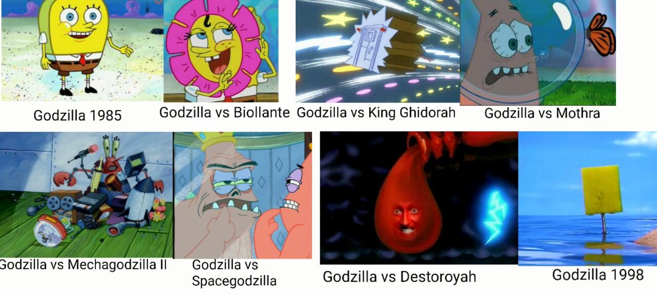 spongebob godzilla heisei spongebob comparison charts