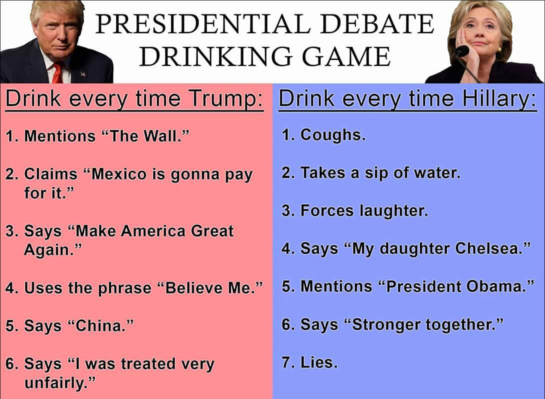 2016 united states presidential election drinking game