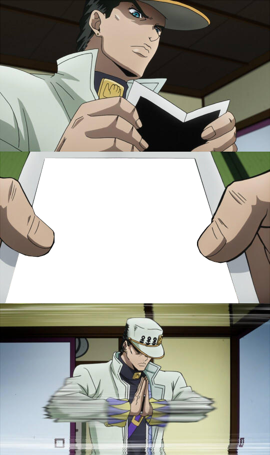 What Is Jotaro Seeing On The Photograph Template Jojo S Bizarre Adventure Know Your Meme