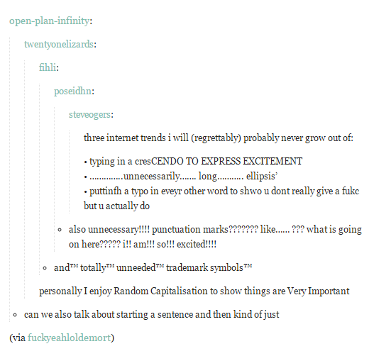 Theyre Becoming Self Aware Of Their Own Typing Tropes Tumblr