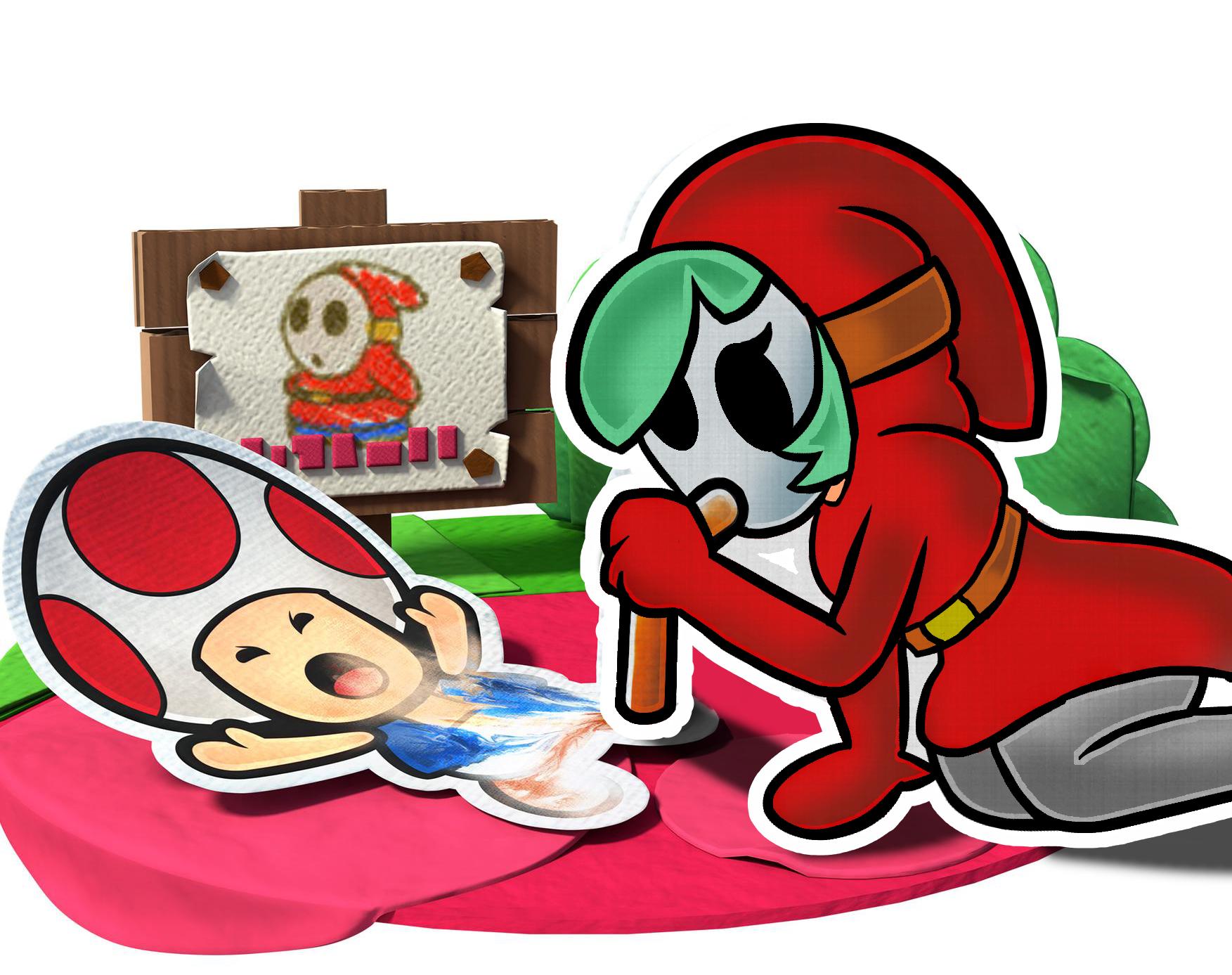 Paper Mario Color Splash Super Bros Sticker Star