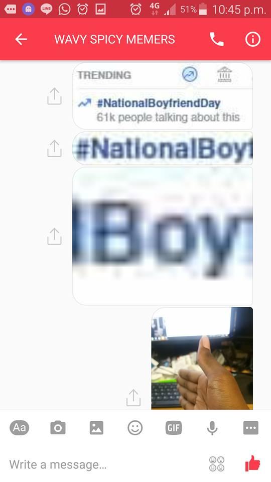 Roast hand on National Boyfriend Day | Know Your Meme