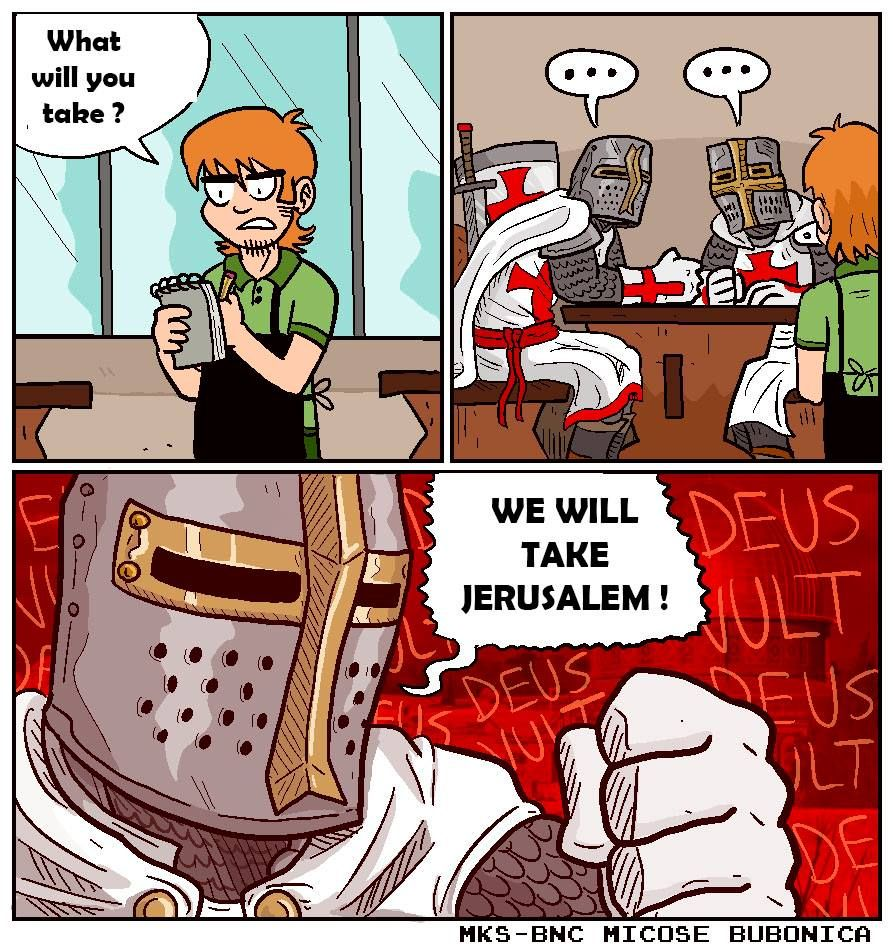 We All Will Take Jerusalem Deus Vult Know Your Meme