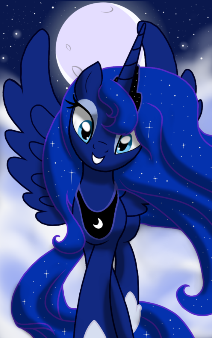princess luna by janecanvas my little pony friendship is magic
