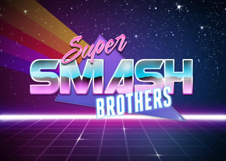 Super Smash Bros | Retrowave Text Generator | Know Your Meme