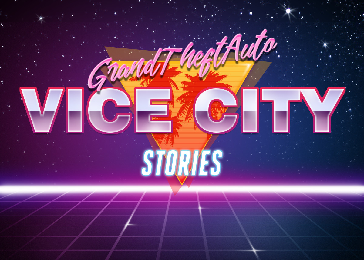 Grand Theft Auto: Vice City Stories | Retrowave Text