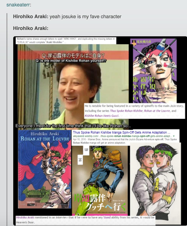 Araki's favorite character   JoJo's Bizarre Adventure   Know Your Meme