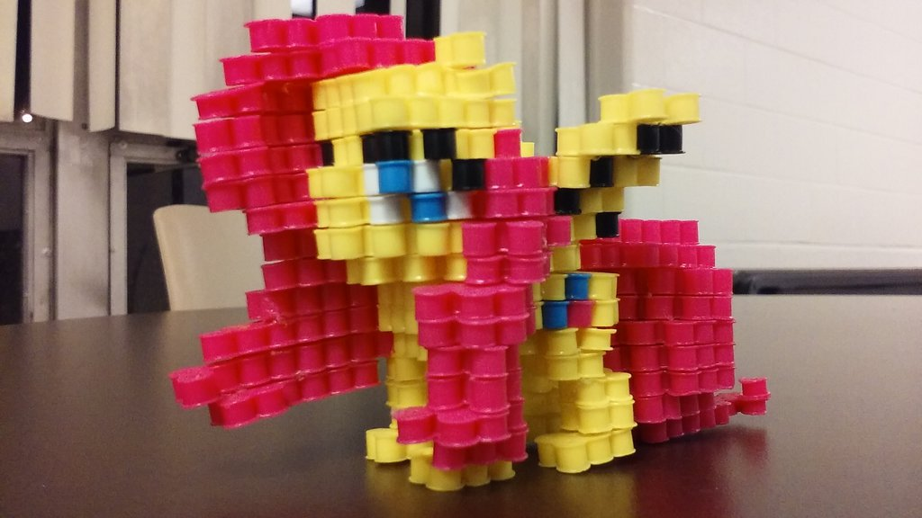 3d Perler Bead Fluttershy My Little Pony Friendship Is Magic