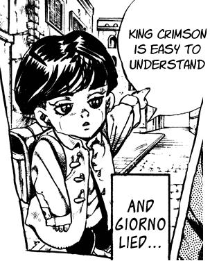giorno vs king crimson ile ilgili görsel sonucu