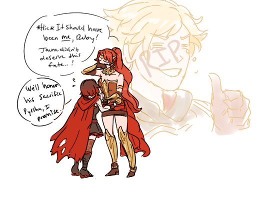 AU where everything is the same except Cinder killed Jaune ...