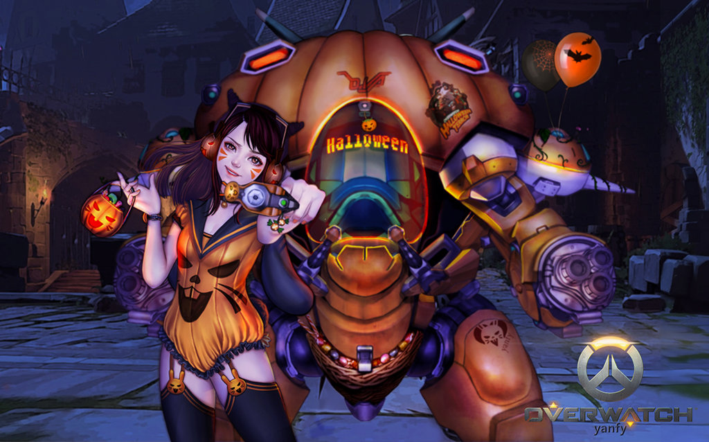 Halloween Overwatch 2020 Skins Dva D.Va Halloween skin by Yanfy | Overwatch | Know Your Meme