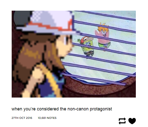 when you re considered the non canon protagonist pokémon know