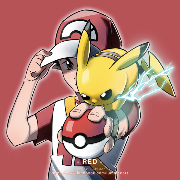 red and pikachu pokémon sun and moon know your memered y lumineo w facebook com lumeoart