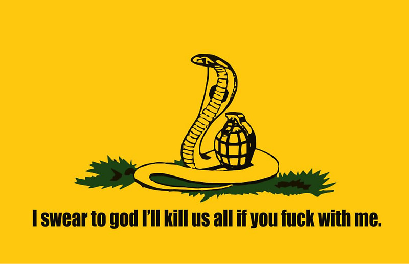 the grenade is armed by the way gadsden flag don t tread on me