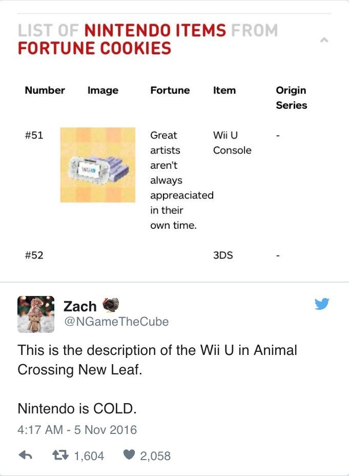 Wii U Fortune in Animal Crossing: New Leaf | Nintendo | Know