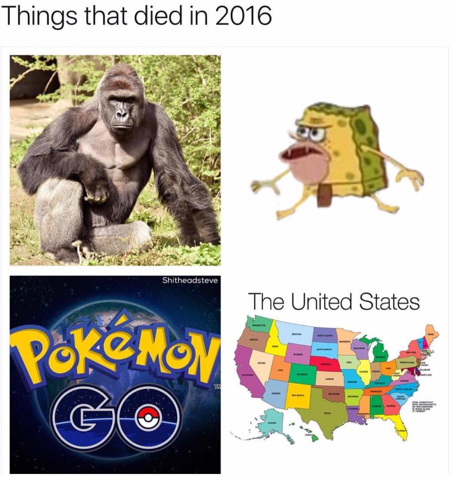 Things that died in 2016 shitheadsteve the united states