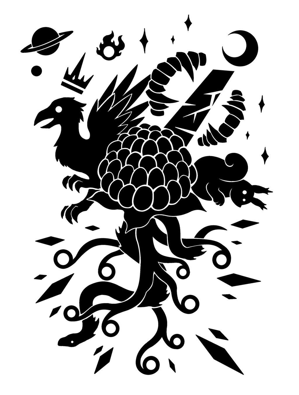 black black and white leaf pattern silhouette tree design bird
