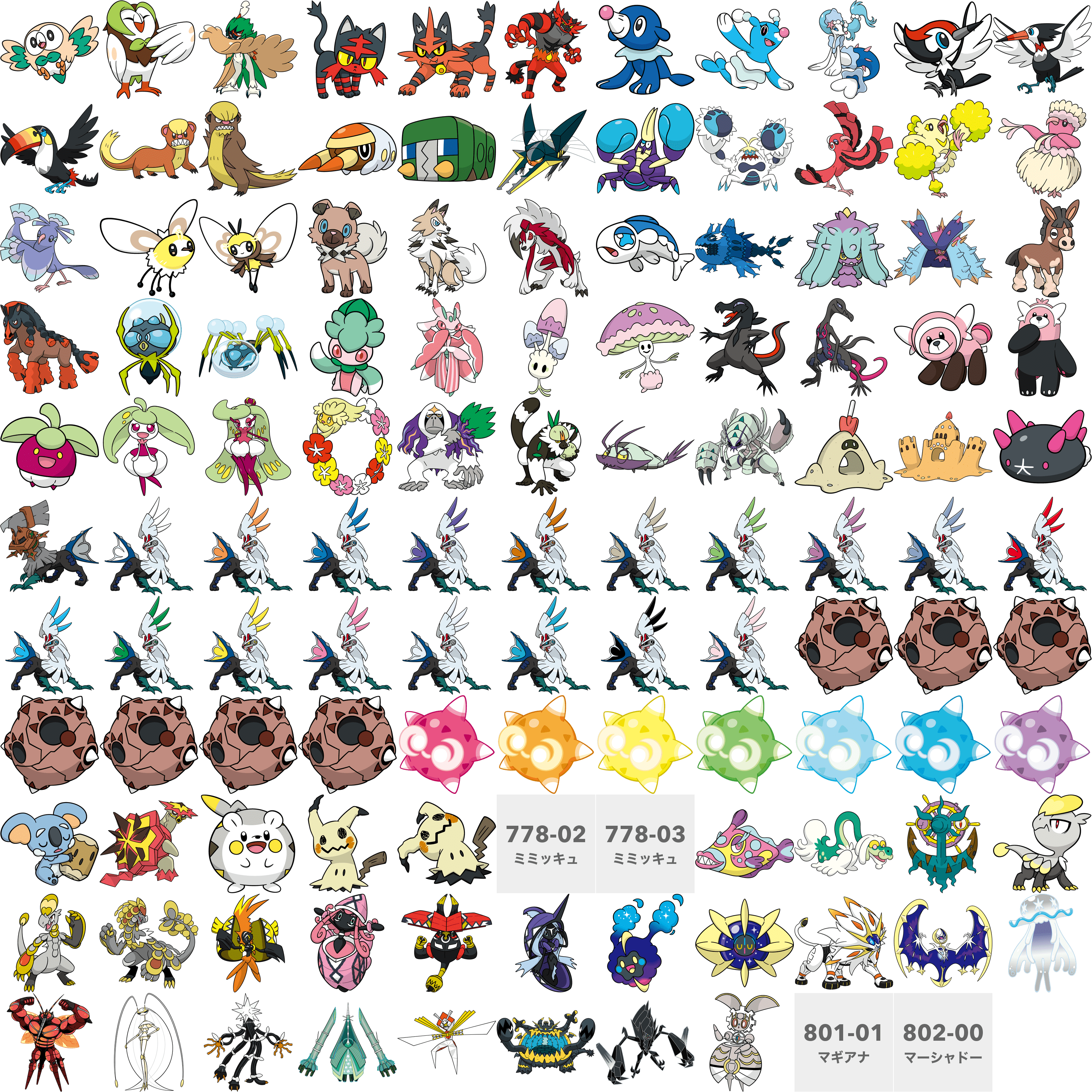 pgl art for all new pokemon pokémon sun and moon know your meme