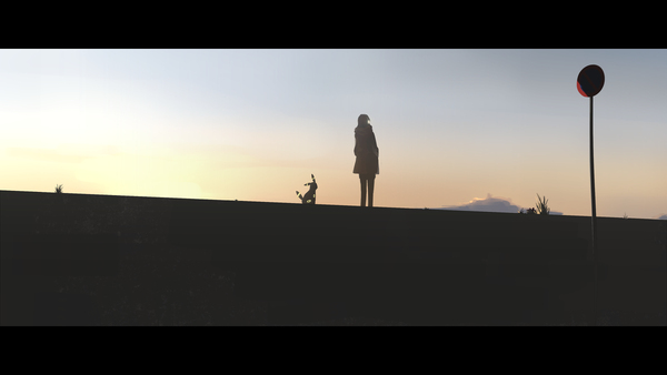 An Girl And Her Umbreon Standing In The Middle Of Nowhere Eevee
