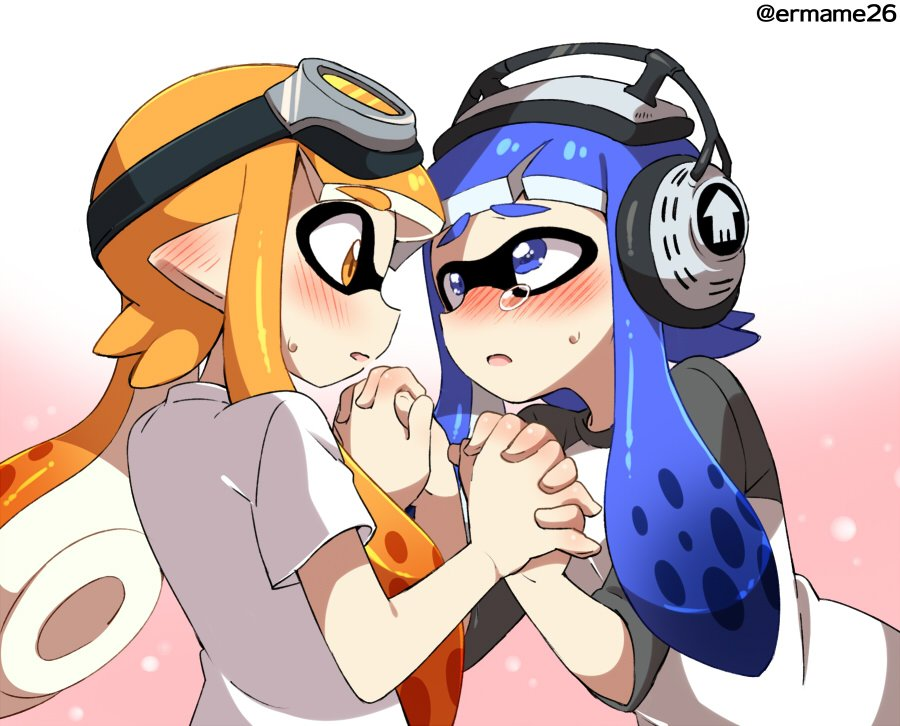 Blushing Squids Splatoon Know Your Meme