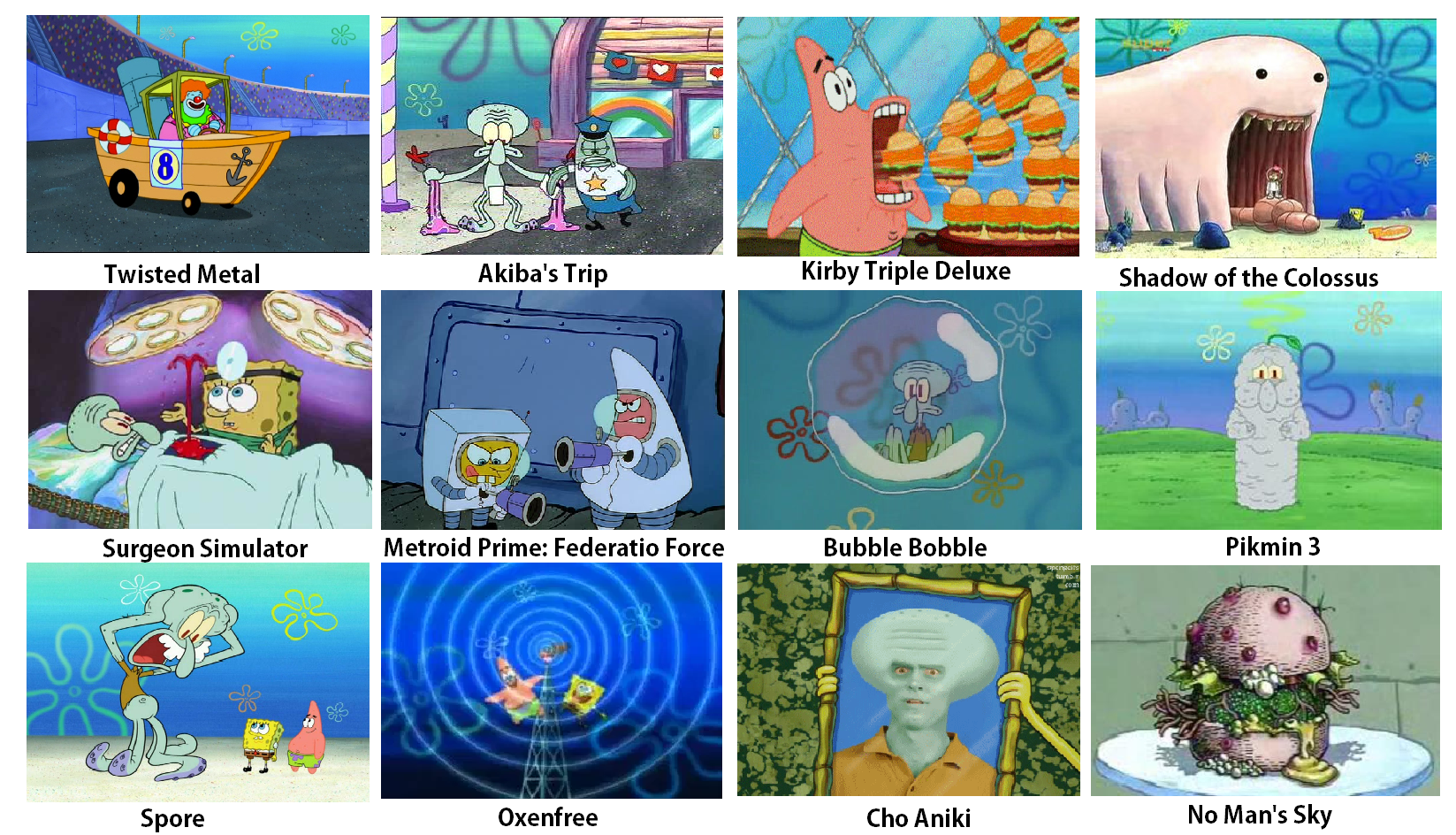 Spongebob Video Games Comparison Spongebob Comparison Charts Know Your Meme