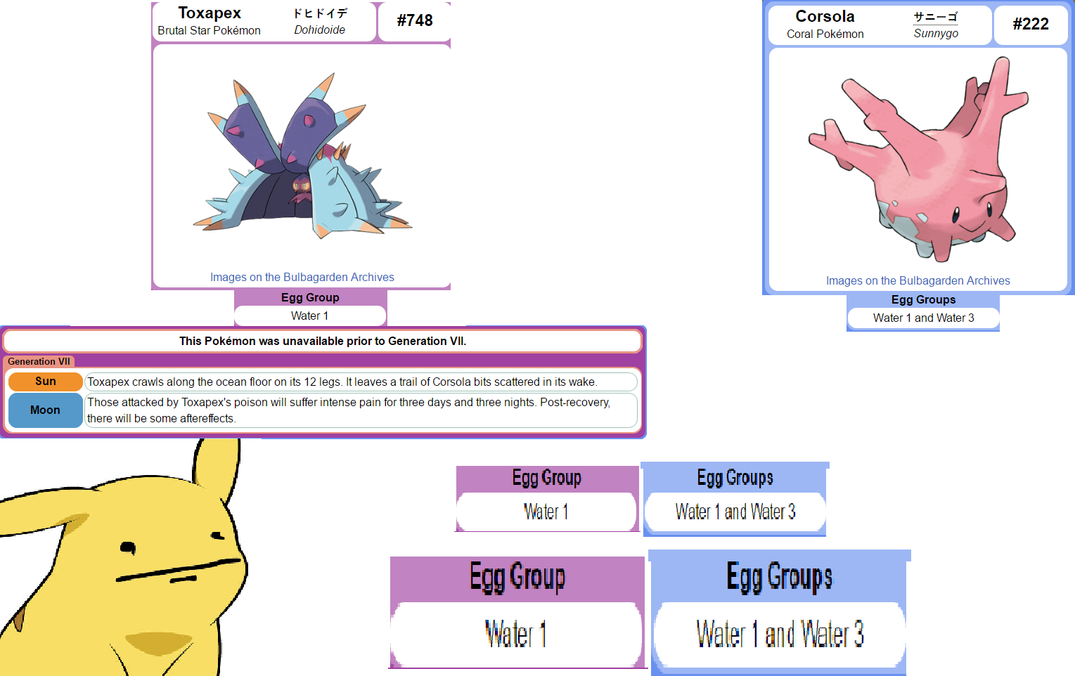 apparently toxapex can breed with corsola its prey pokémon