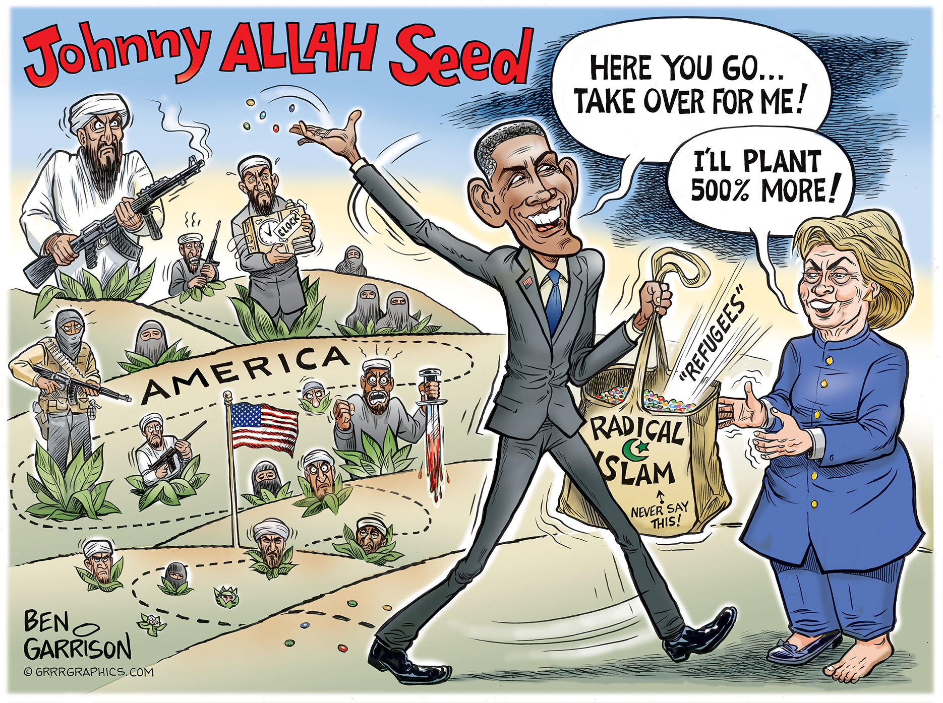 Image result for johnny allah seed ben garrison