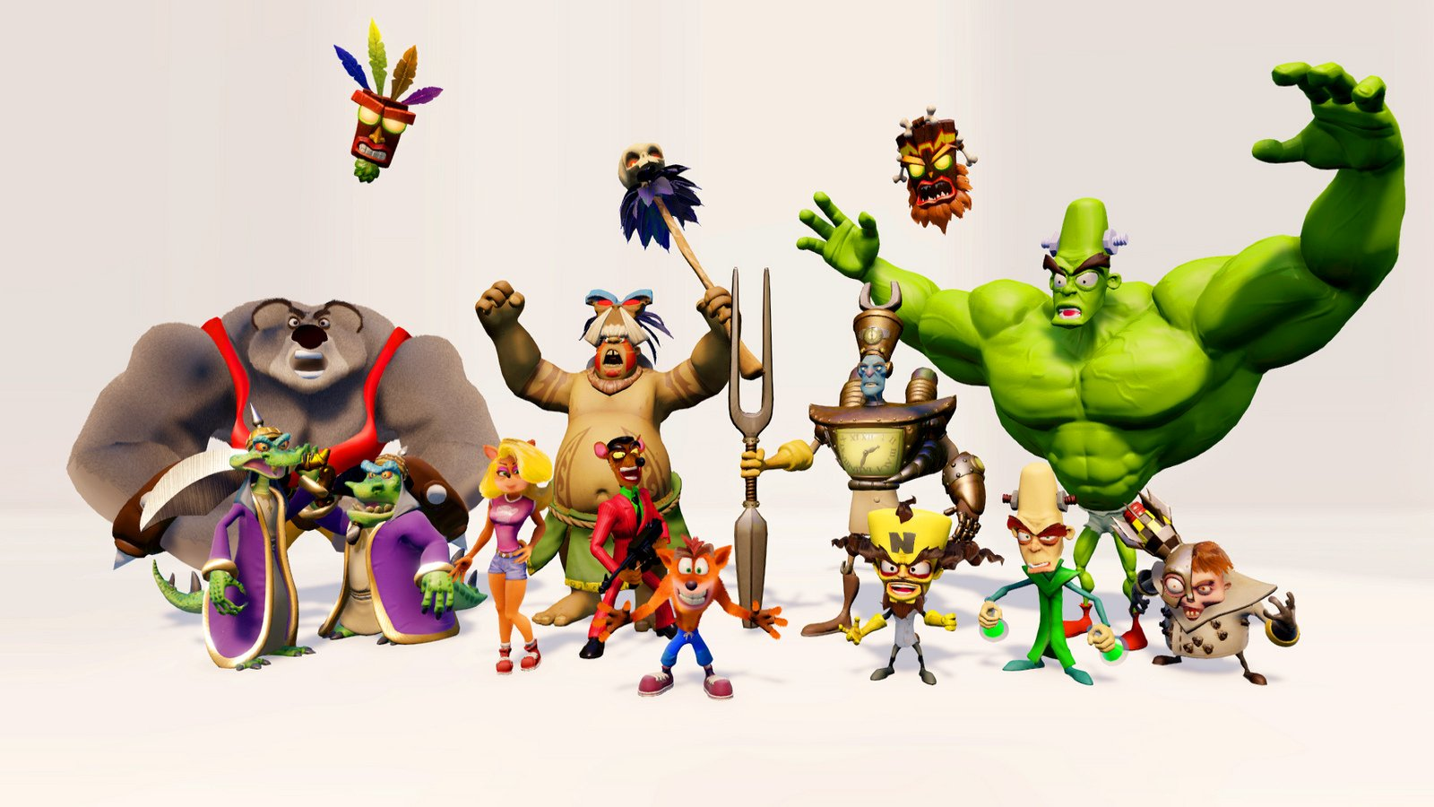 cast of characters in n sane trilogy crash bandicoot know your meme
