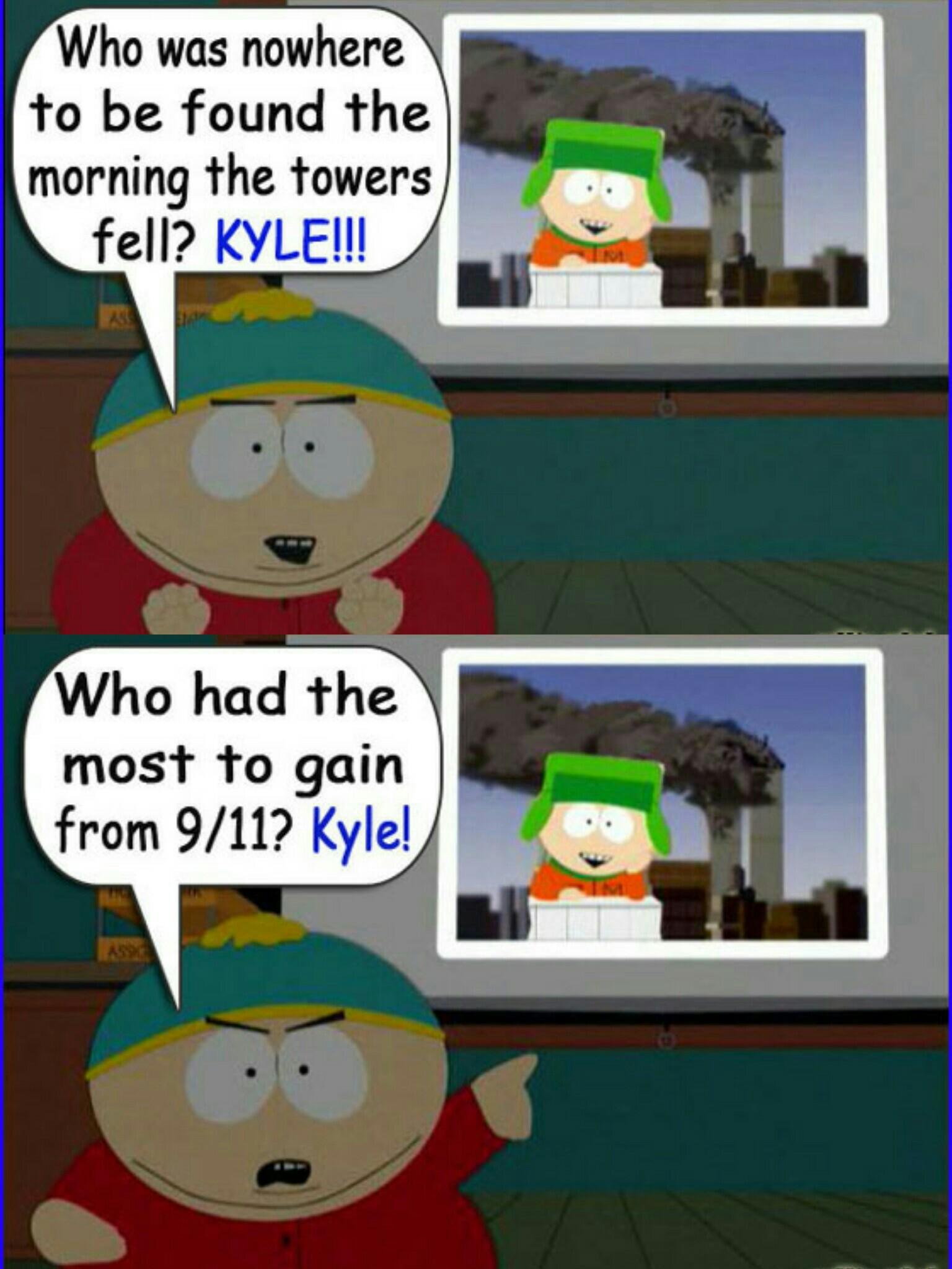 kyle is evil south park know your meme
