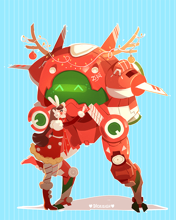 Overwatch Christmas 2019 Skins.D Va Christmas Skin Overwatch Know Your Meme