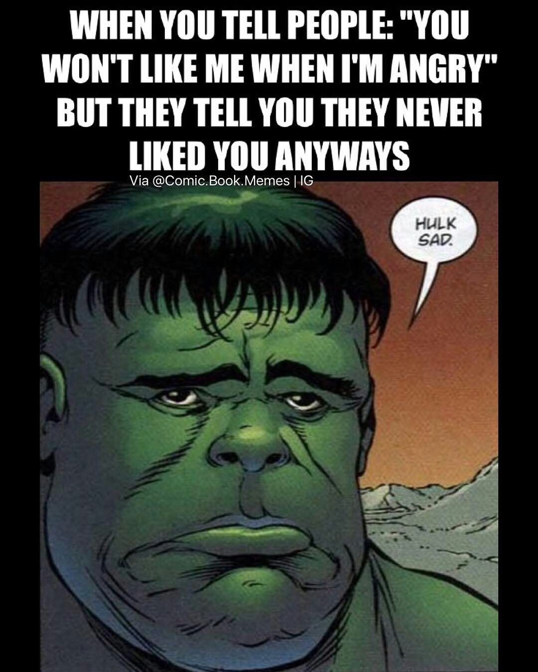 Hulk Sad Marvel Comics Know Your Meme