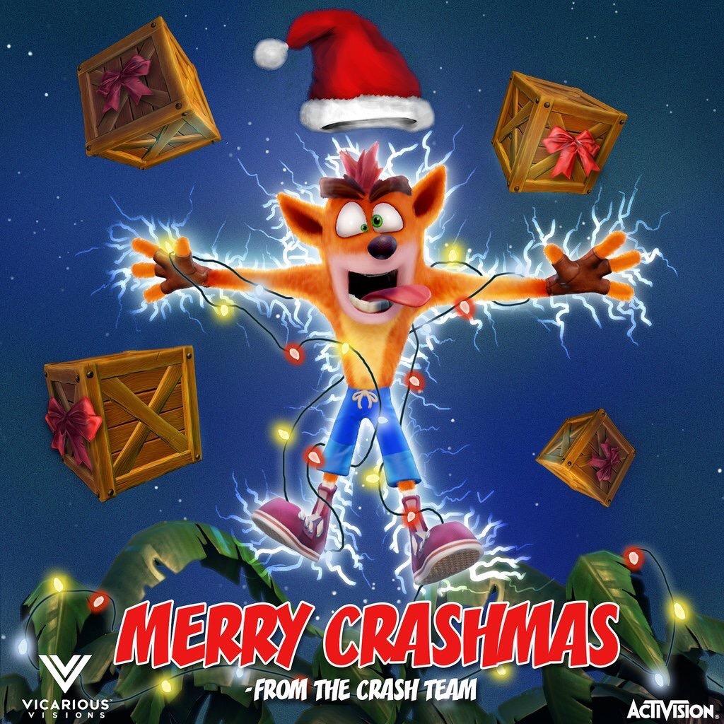 Crash Bandicoot Christmas.Merry Crashmas Crash Bandicoot Know Your Meme