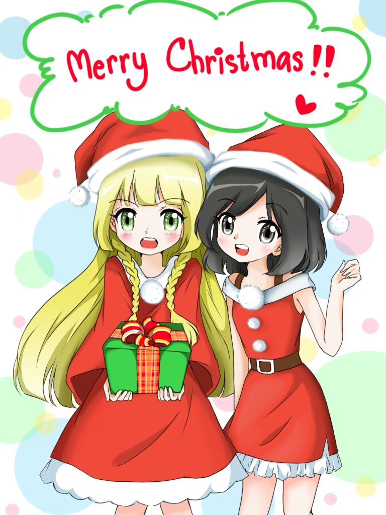 Lillie and Chicken Hat Trainer saying Merry Christmas | Pokémon Sun ...