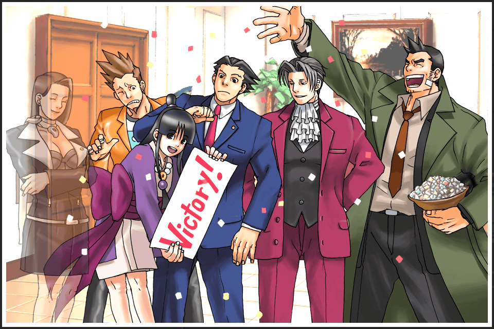 Victory We Won The Case Phoenix Wright Ace Attorney Know