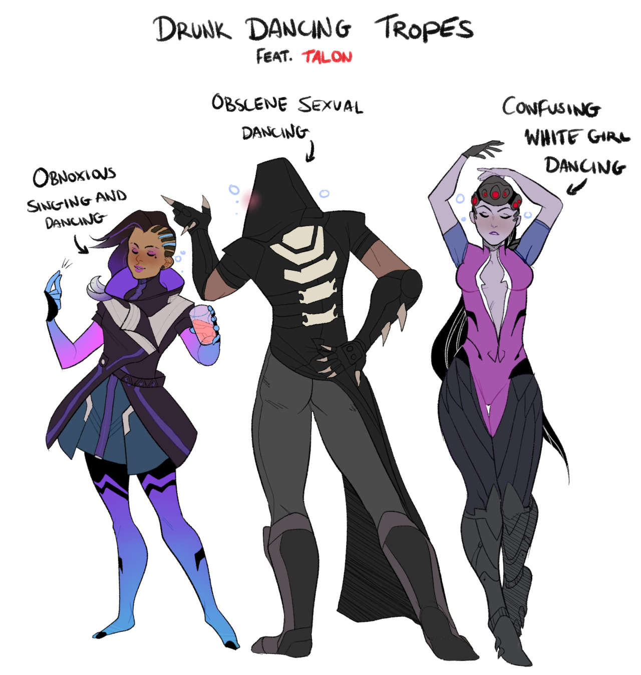 drunk dancing with talon overwatch know your meme