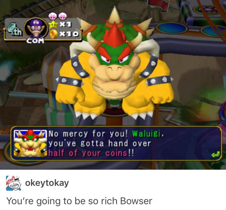 No Mercy For Waluigi Mario Party Know Your Meme