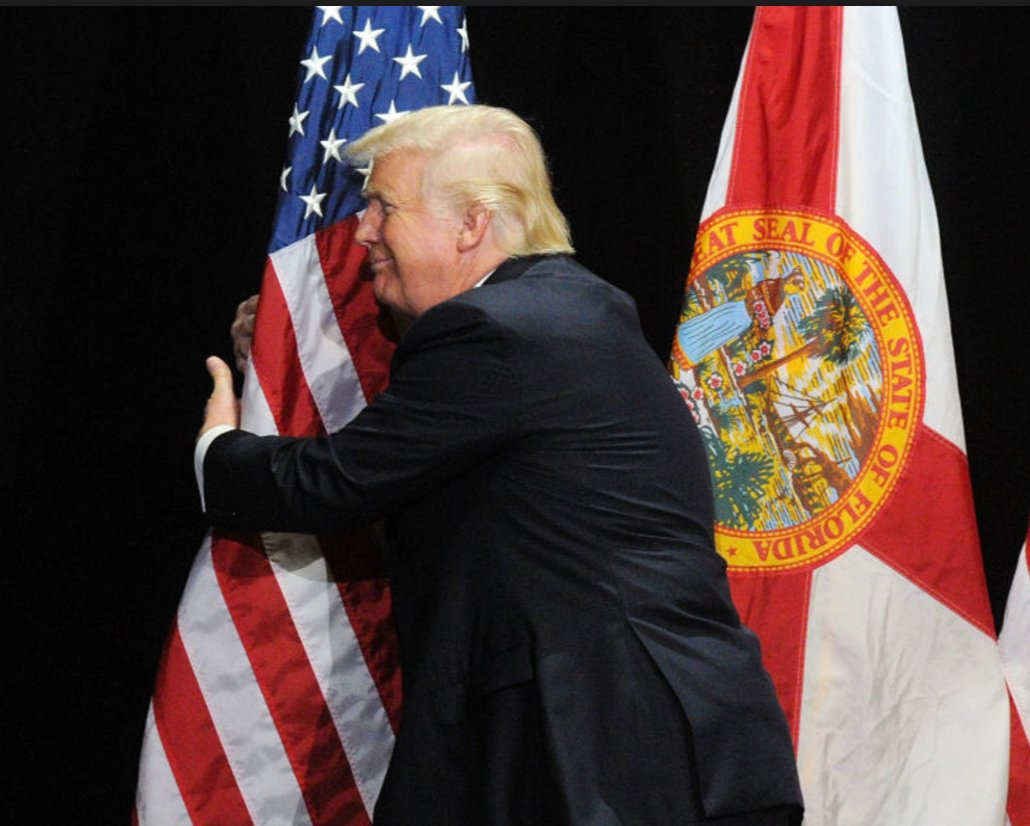 Trump Hugging An American Flag Donald Trump Know Your Meme