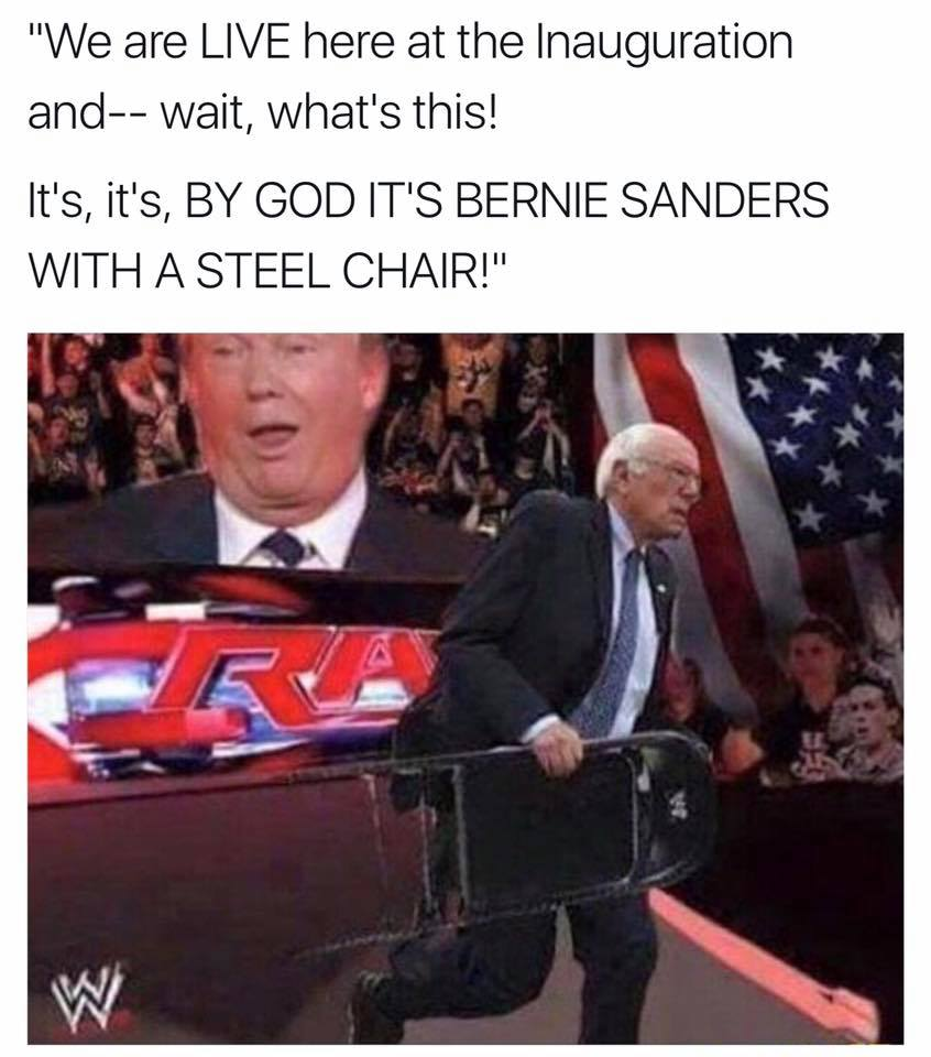 Bernie Sanders' Steel Chair | Inauguration of Donald Trump | Know Your Meme