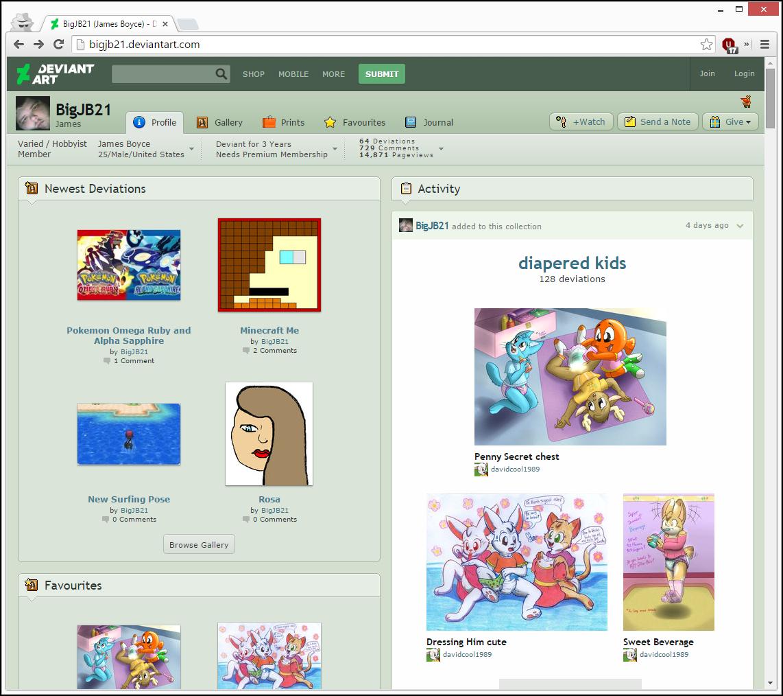 BigJB21's DeviantArt Profile Screenshot | God I Wish That