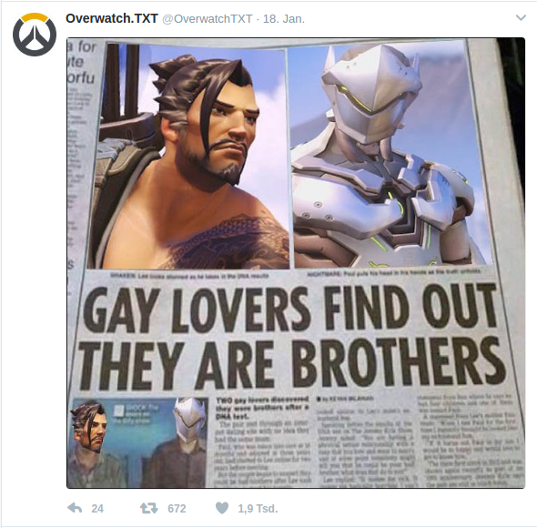 Gay Lovers gay lovers find out that they are brothers | overwatch | know your meme