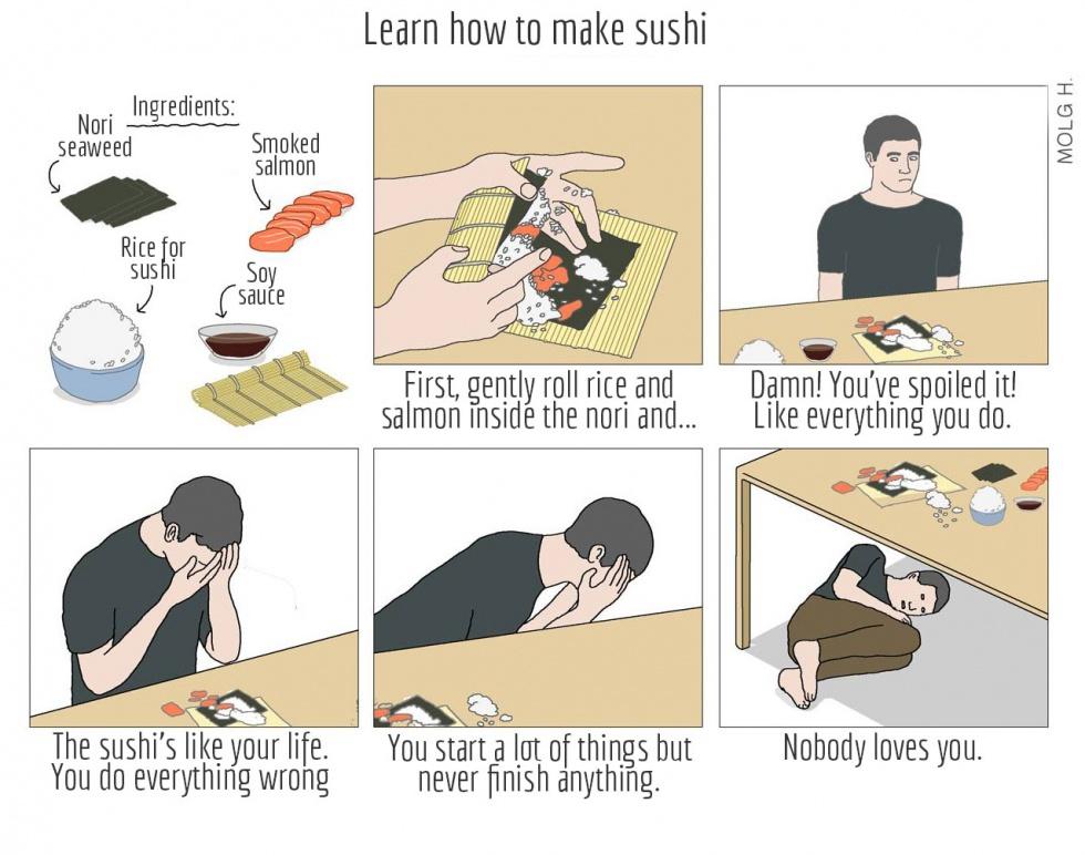 How to make sushi meme