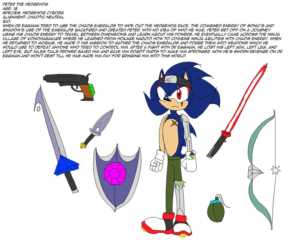 Peter the Hedgehog | Sonic Original Characters | Know Your Meme