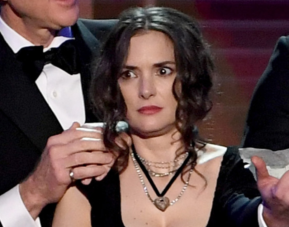 Worried Winona Ryders Sag Award Reaction Know Your Meme