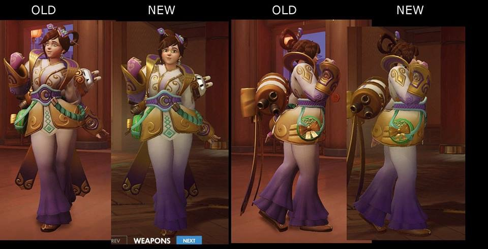 Mei S Chinese New Year Skin Changes Overwatch Know Your Meme